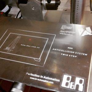 grabado laser en aluminio