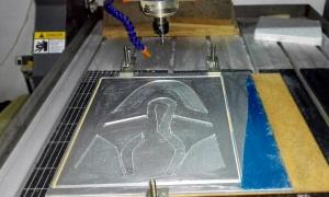mecanizado en aluminio CNC router capellada de zapatos